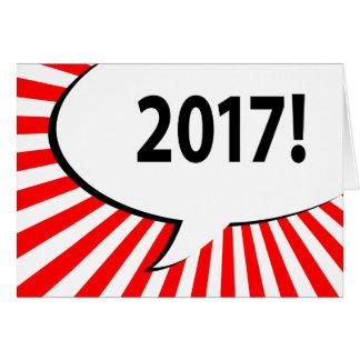 burbuja cómica 2017 tarjeta de felicitación