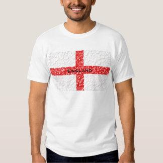 Burbuja de la bandera de Inglaterra texturizada Camisas