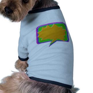 Burbuja de la CHARLA Añada la plantilla Editable Camisetas De Mascota