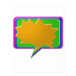 Burbuja de la CHARLA: Añada la plantilla Editable  Tarjeta Postal