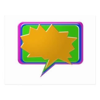 Burbuja de la CHARLA: Añada la plantilla Editable Postal