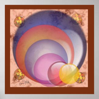 Burbuja hacia fuera póster