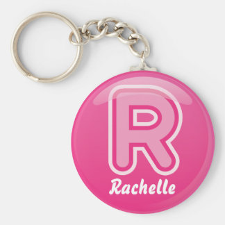 Burbuja rosada de la letra R del llavero
