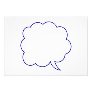 Burbuja vacía #1 del discurso comunicado personalizado
