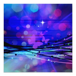 Burbujas abstractas coloridas de las mariposas de invitación 13,3 cm x 13,3cm