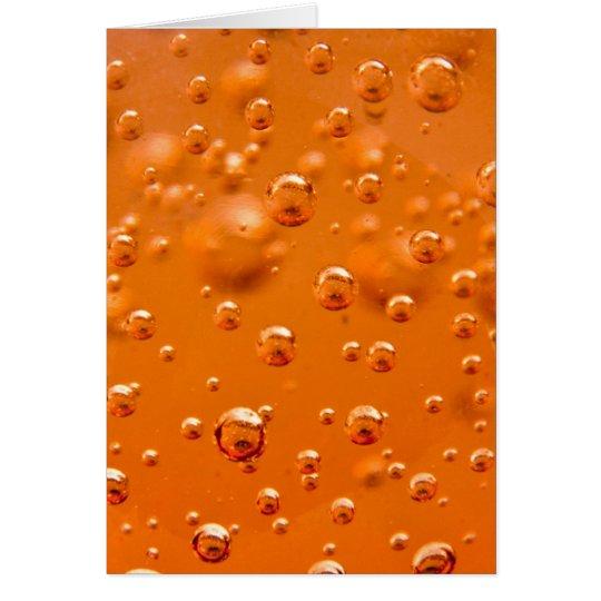 Burbujas anaranjadas tarjeta pequeña