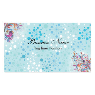 Burbujas azules y blancas lindas tarjetas de visita