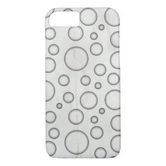 Burbujas blancos y negros funda iPhone 7