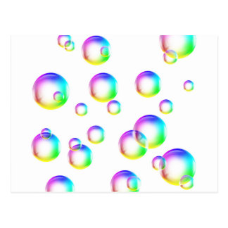 Burbujas - colores del arco iris postal