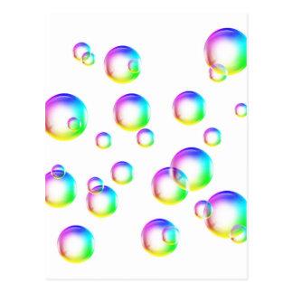 Burbujas - colores del arco iris tarjetas postales