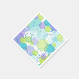 Burbujas coloridas servilleta de papel