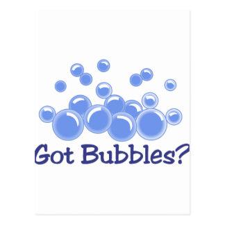¿Burbujas conseguidas? Postal