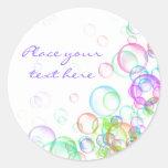 Burbujas de jabón pegatinas redondas
