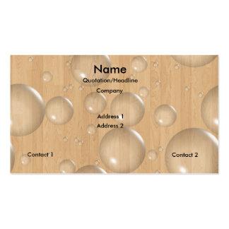 Burbujas de madera tarjetas de visita