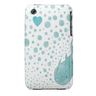 Burbujas del amor iPhone 3 cárcasa