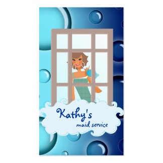 Burbujas del azul de la tarjeta de visita de la li