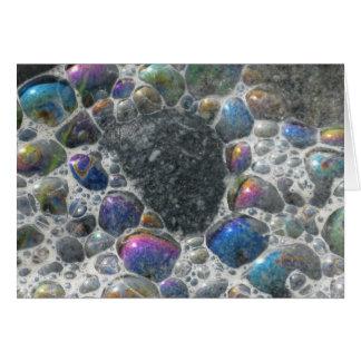 Burbujas del océano tarjeta de felicitación