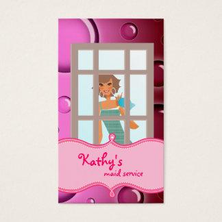 Burbujas del rosa de la tarjeta de visita de la