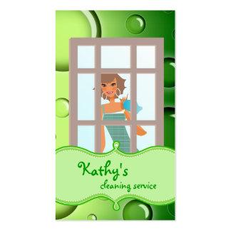 Burbujas del verde de la tarjeta de visita de la l