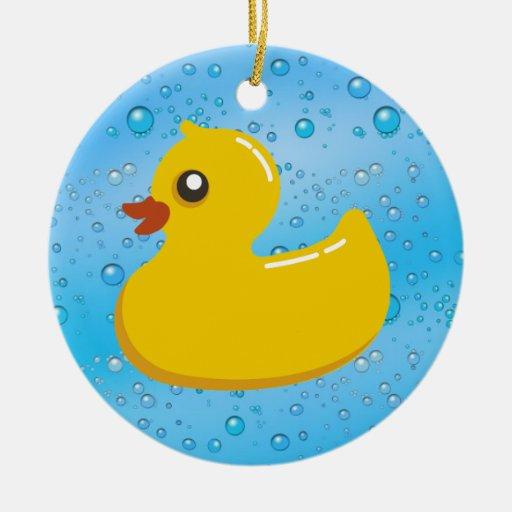 Burbujas Ducky/azules de goma lindas Ornamentos Para Reyes Magos