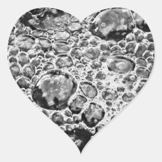 Burbujas Pegatina En Forma De Corazón