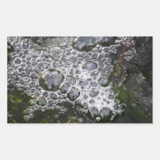 Burbujas Pegatina Rectangular