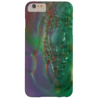 Burbujas púrpuras y verdes funda barely there iPhone 6 plus