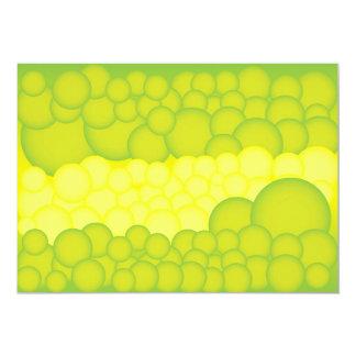 Burbujas verdes invitación 12,7 x 17,8 cm