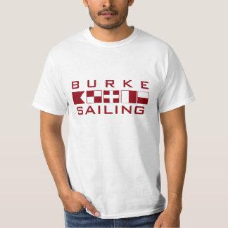 Burke que navega la camisa náutica de las banderas