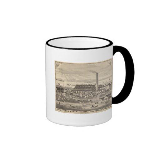 Burlington que fabrica los trabajos del mármol del taza