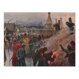 Burning de Grigoriy Myasoyedov- del gran sacerdote Postal