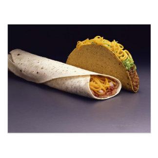 Burrito del Taco y de la haba Postal