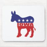 Burro de Iowa Demócrata Alfombrillas De Raton