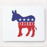 Burro de Ohio Demócrata Alfombrilla De Ratón