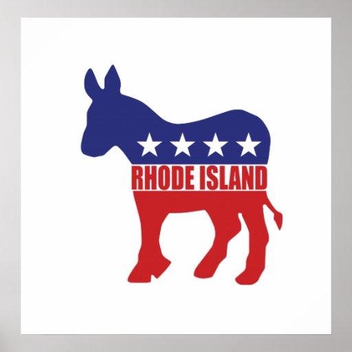 Burro de Rhode Island Demócrata Posters