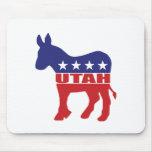 Burro de Utah Demócrata Alfombrilla De Ratones