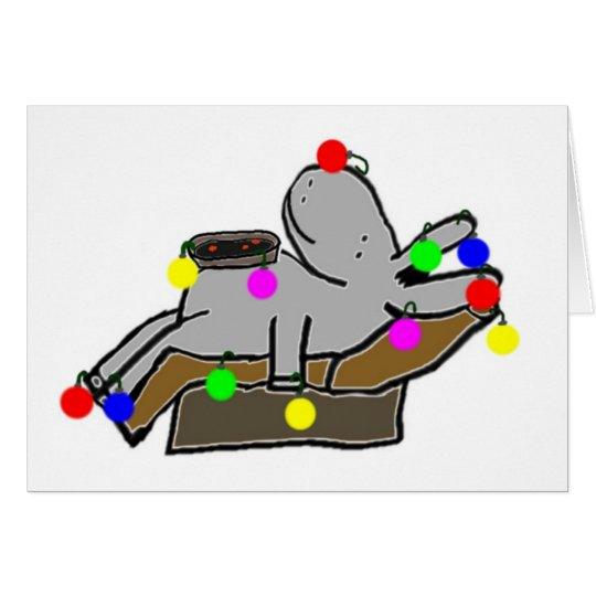 burro napping después de navidad tarjeta de felicitación