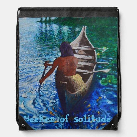 Buscador de la soledad mochilas con cordón ajustable