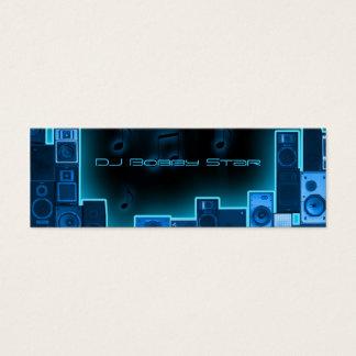 Businesscard azul de DJ de la noche Tarjeta De Visita Pequeña