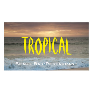 BusinessCard: Restaurante de la barra de la playa Tarjetas De Visita