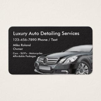 Businesscards de detalle auto tarjeta de negocios