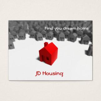 Businesscards de las propiedades inmobiliarias tarjeta de negocios