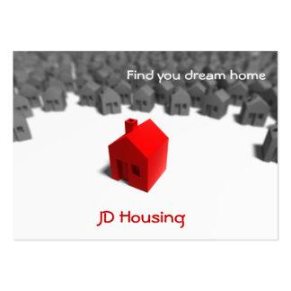 Businesscards de las propiedades inmobiliarias tarjeta de visita