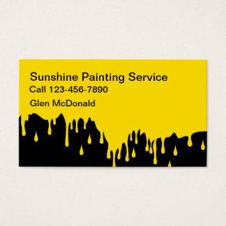 Businesscards de pintura intrépido simple tarjeta de negocios