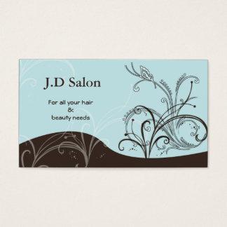 Businesscards del salón tarjeta de visita