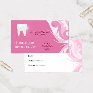 Businesscards dentales con la tarjeta de la cita