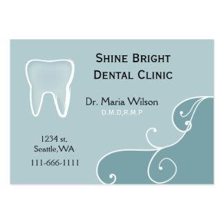 Businesscards dentales con la tarjeta de la cita tarjetas de visita grandes