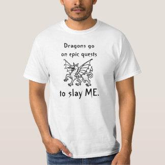 Búsqueda de los dragones camiseta