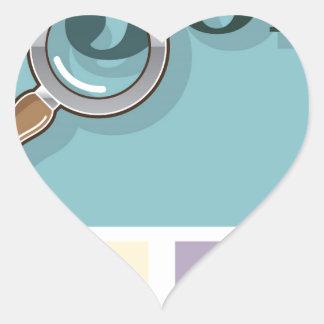 Búsqueda de trabajo bajo illustrat del vector de pegatina en forma de corazón