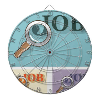 Búsqueda de trabajo bajo illustrat del vector de tabla dardos